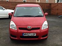 2007 TOYOTA COROLLA VERSO 1.6, (7 SEATER) 2 FORMER KEEPER, HPI CLEAR, MOT TILL MAY