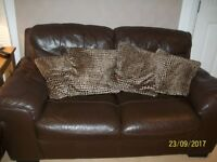 Brown Leather Couches from Reids