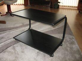 Black TV trolley