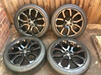 """Gloss Black Genuine 20"""" Range Rover Evoque Alloy Wheels Dynamic with Michelin Tyres"""