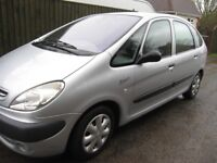 Citreon Xsara Picasso SX 16v 1749CC Petrol, manual gearbox, silver, MOT until August 2018