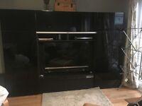 Ikea Besta storage Tv Cabinet black gloss