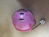 Pink Stereo CD Radio/Player
