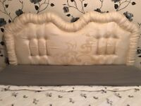 Headboard for king super king bed in gold cream hand made lovely Colours