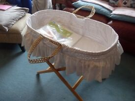 Baby mosses basket and new prop up pillow