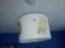Minion ceiling lampshade and wall stickers