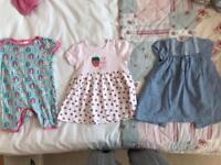 Summer Bundle 3 X 6/9 Months Baby Girls Summer Outfits In Good Condition! Bundle! Baby Clothes!