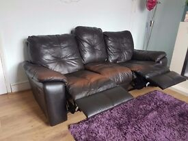 Set of 2 piece Leather Sofa Suite - Land Of Leather