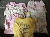 Baby grows bundle 0-3months