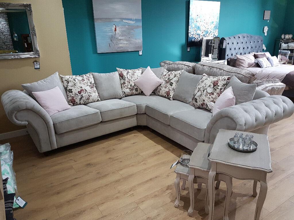 Chesterfield Style Corner Sofa