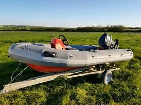 Avon searider rib boat 4m
