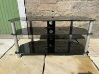 Sold pending collection - Television / TV Unit - black glass