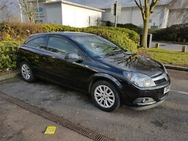 Black Vauxhall Astra 2010 1.6 Manual MOT and TAX 3 Door Hatch Not Golf Focus Polo Clio BMW