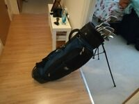 Golf Clubs and Caddy Stand - Good Beginner Set