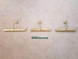 Brass Light Wall Display Fittings