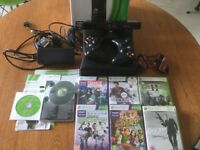 Boxed xbox360 in good condition with Kinect, 2 controllers, 6 games