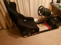 Thrustmaster T300rs with simitek k2 & OMP Trs seat