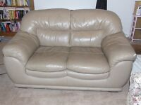 2 Seater Camel Leather Sofa, £40 ONO, Buyer Collects please.