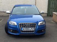 Audi S3. Sepang blue, 5dr, sat nav, Bluetooth, DVD, parking sensors etc. 1 yr mot, taxed.