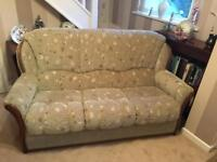 Three piece suite - 3 seater sofa and two arm chairs