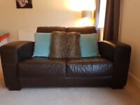 Leather 2 seat sofa - PRICE REDUCED FOR QUICK SALE