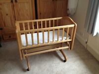 Swinging Wooden Crib