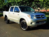 ★TOP SPEC (NO VAT)★2008 TOYOTA HILUX INVINCIBLE D4D 3.0 DIESEL ★ ALLOYS ★ FULL LEATHER ★AUTOMATIC