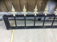 Wrought iron garden railings