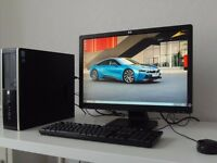 HP COMPAQ 8200-i5- ELITE SFF PC+HP 22 INCH MONITOR
