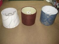 3 Lampshades: Please See Advert Description for Details and Prices