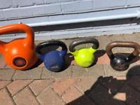 4 kettlebells 12kg, 10kg, 8kg, 6kg