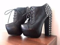 high heels boots size 5 for sale
