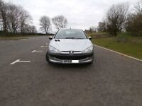 53 PLATE PEUGEOT 206 1.1 LOOK - 3 DOOR - 83000 MILES - MOT,D OCT - 40-50 MPG - BARGAIN !!