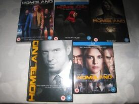 Homeland seasons 1 to 6 DVDs for sale
