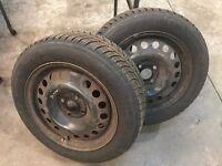 185/60x15 Winter Tyres on Vauxhall Meriva Steel Wheels