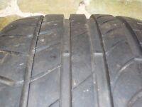 DUNLOP TYRE for BMW X3 - 225/60 R17 SPORTS MAXX TT RUN FLAT (ROF) 99V - HARDLY WORN - 7mm tread