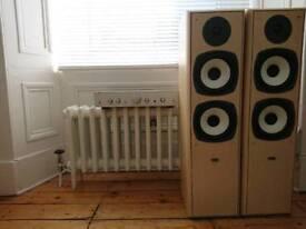 Floor standing speakers and amplifier