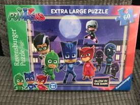 Pj masks glow in the dark puzzle brand new