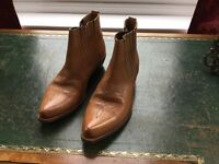 Men's Loblan leather ankle boot size 42, new