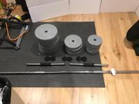 50KG (in totol) Dumbell/Barbell. Set
