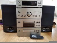 Wharfdale stacking stereo system with remote