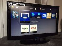 37'' SAMSUNG HD TV. TELEVISION WITH REMOTE