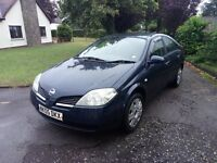 05 Plate Nissan Primera 1.8i. Brand new MOT. Great family car. Drives well. Just £395ono. PX Welcome