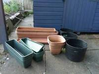 Pots, mix of colours and sizes