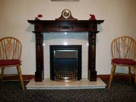 Fire place and marble back no hearth