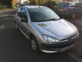 Peugeot 206 1.1 new mot only one advisory which has been done