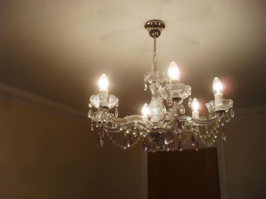 Beautiful six light chandelier