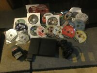 PS2 console, 1 controller and 20 games