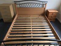 Bed frame + new mattress