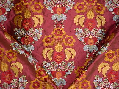 2Y INCREDIBLE COLEFAX FOWLER EMBROIDERED FLORAL BLOSSOM SILK UPHOLSTERY FABRIC